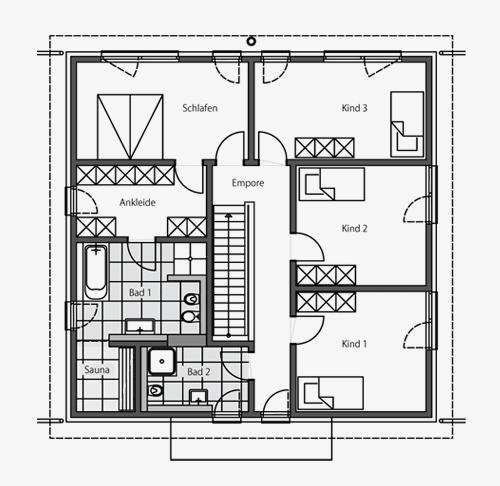 architektenhaus stadtvilla beipielplanung 1 jetzthaus. Black Bedroom Furniture Sets. Home Design Ideas