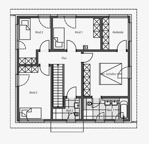 Architektenhaus Stadtvilla: Beipielplanung 2 - jetzthaus