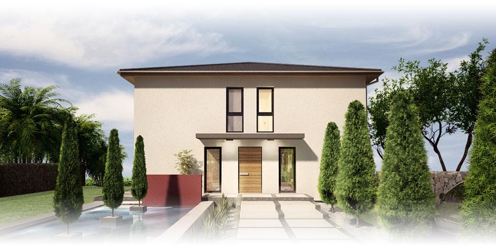 Massivhaus - Stadtvilla - Exterieur - jetzthaus