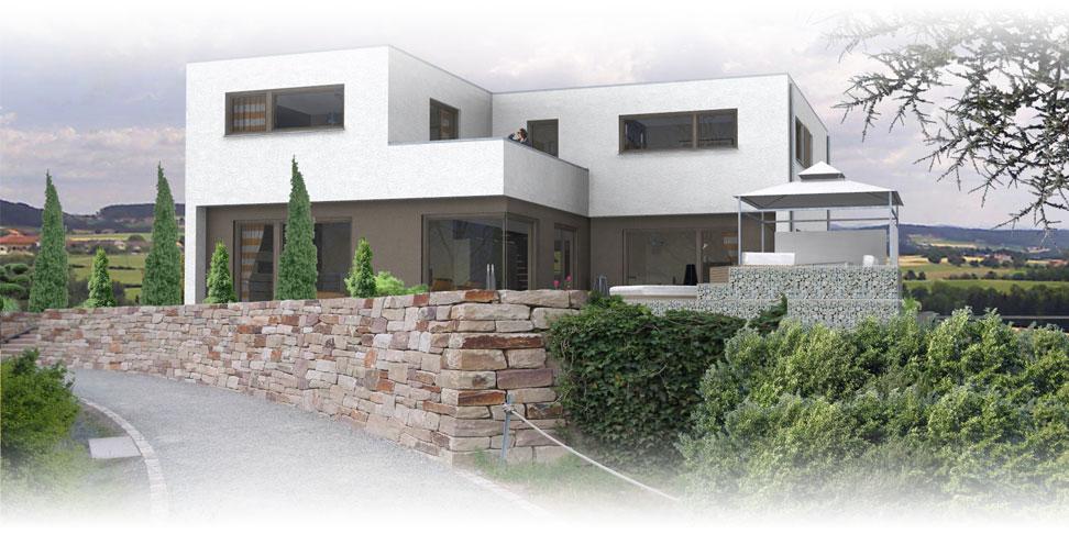 Massivhaus flachdachhaus exterieur jetzthaus for Massivhaus modern